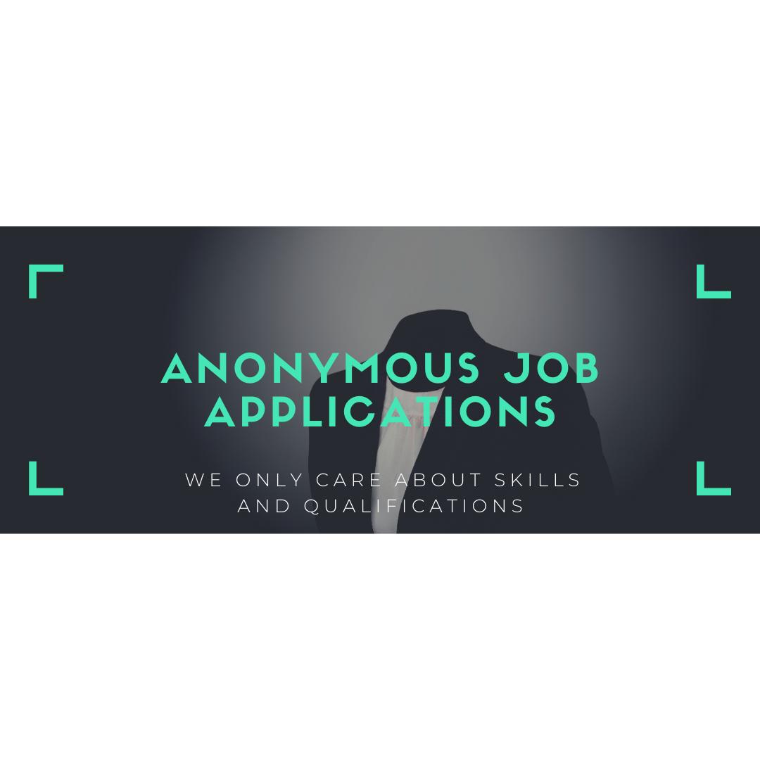 Anonymous job applications
